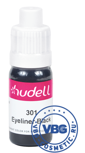 Hudell Pigment color for micropigmentation № 301 Eyeliner Black Пигмент для век Hudell, оттенок № 301 Чёрная подводка